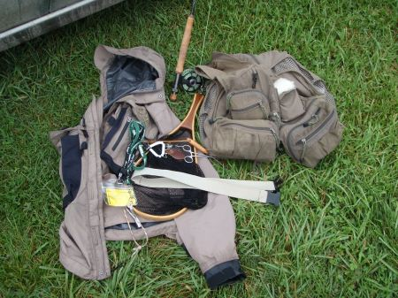 Some of the things I carry on the West Branch of the Delaware...